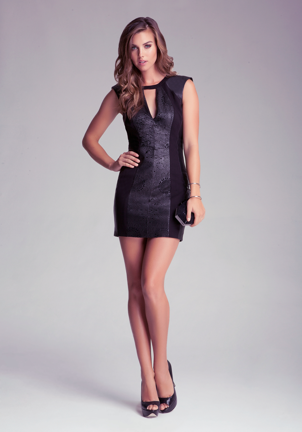 Lyst Bebe Sophie Leather Dress In Black