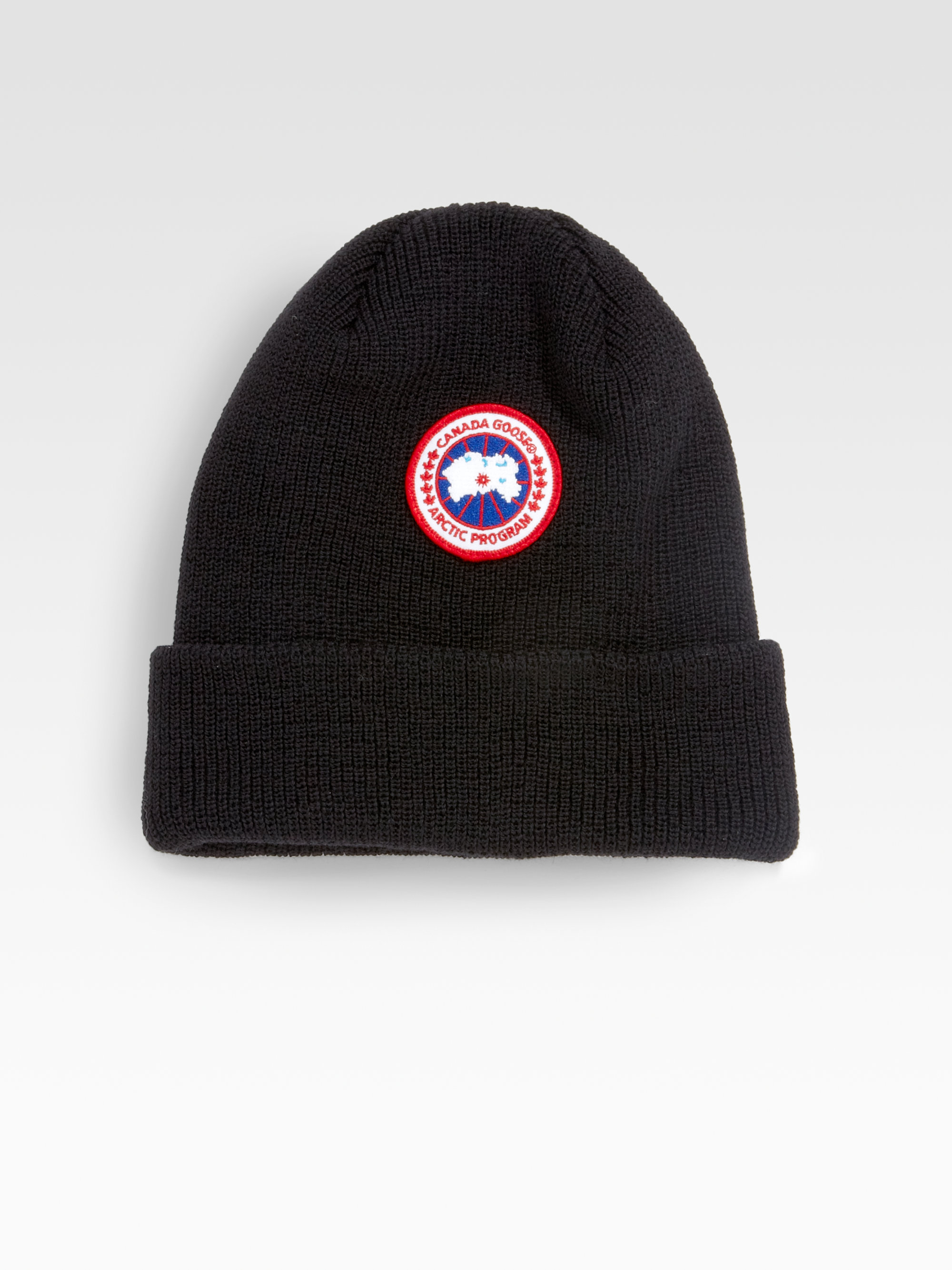 Lyst - Canada Goose Merino Wool Watch Cap in Black 3dbb714bb90
