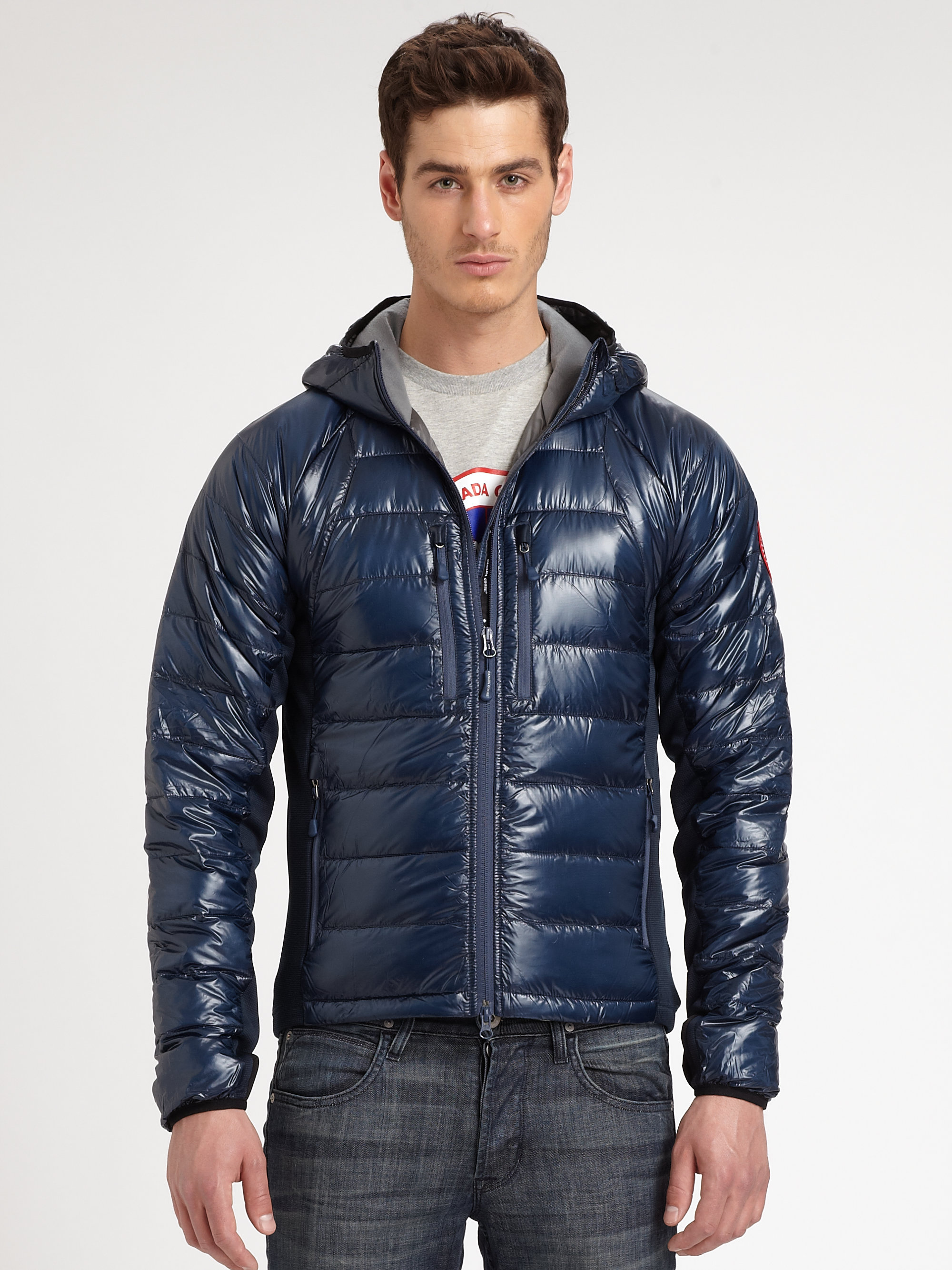 Canada Goose Hybridge Lite Hoodie In Blue For Men Spirit