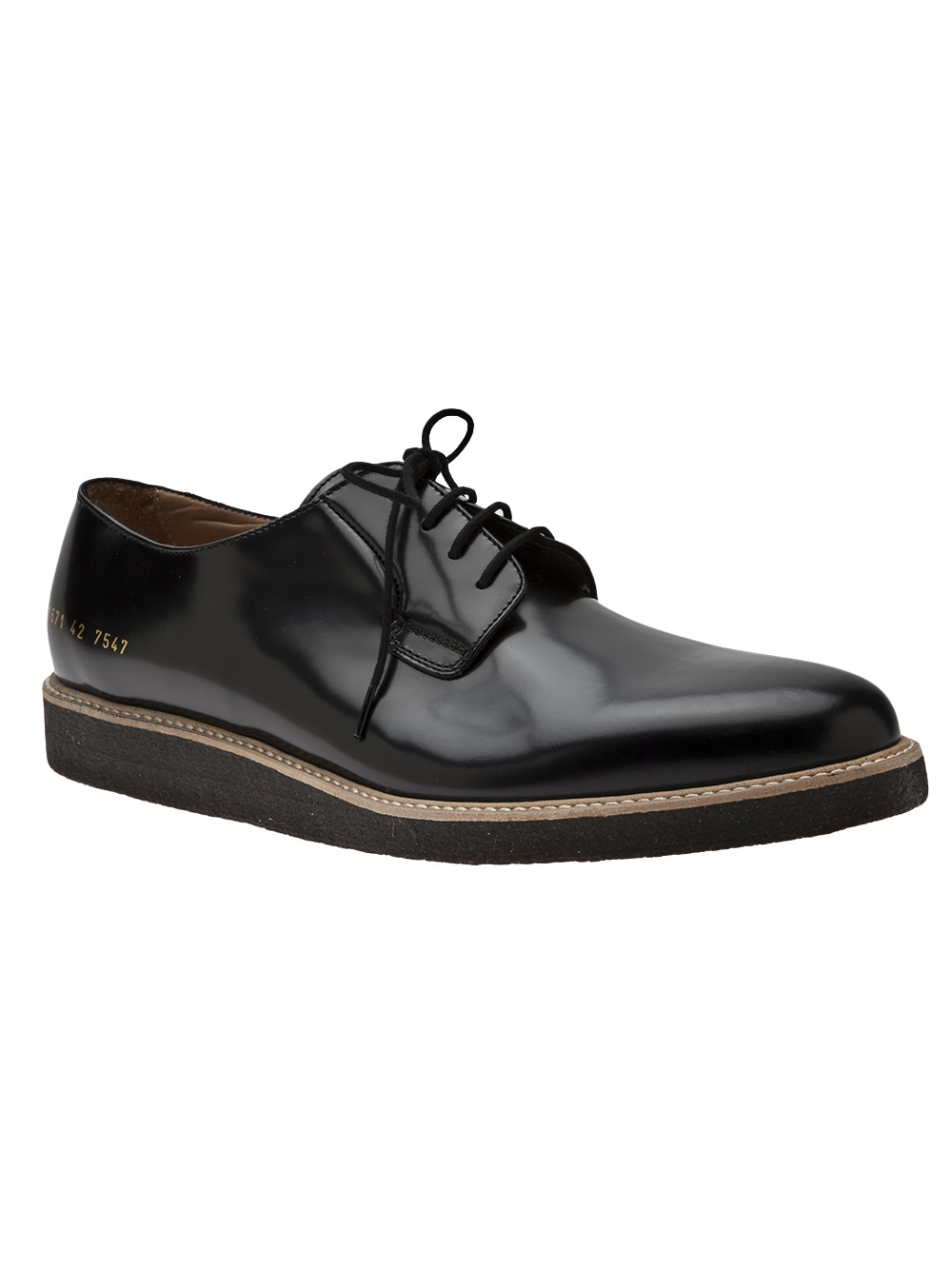 common projects derby oxford dress shoe in black for