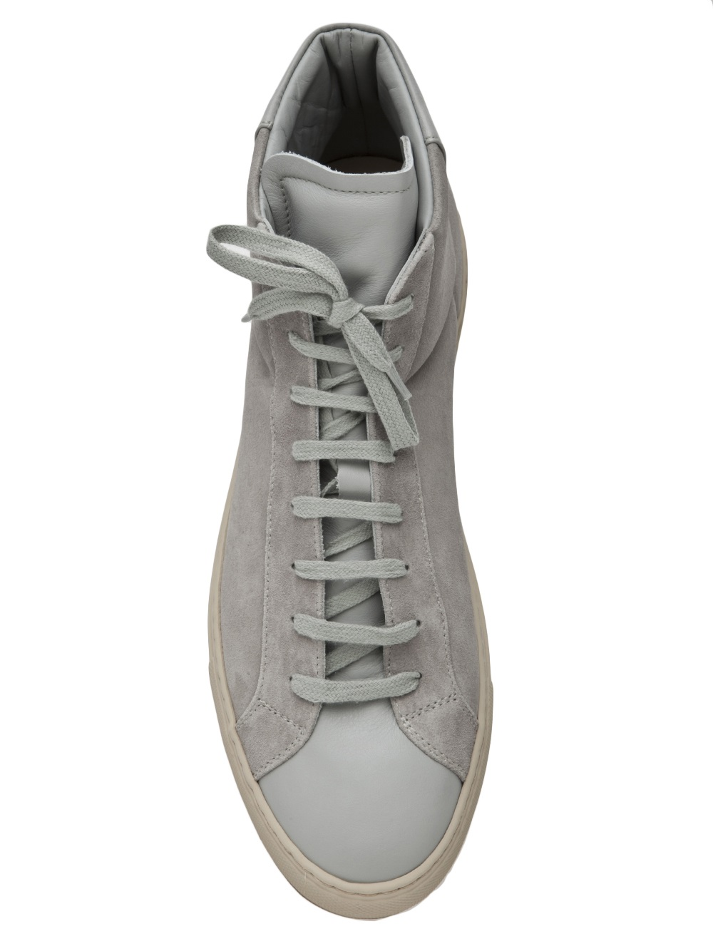 Lyst Common Projects High Top Sneaker In Gray For Men