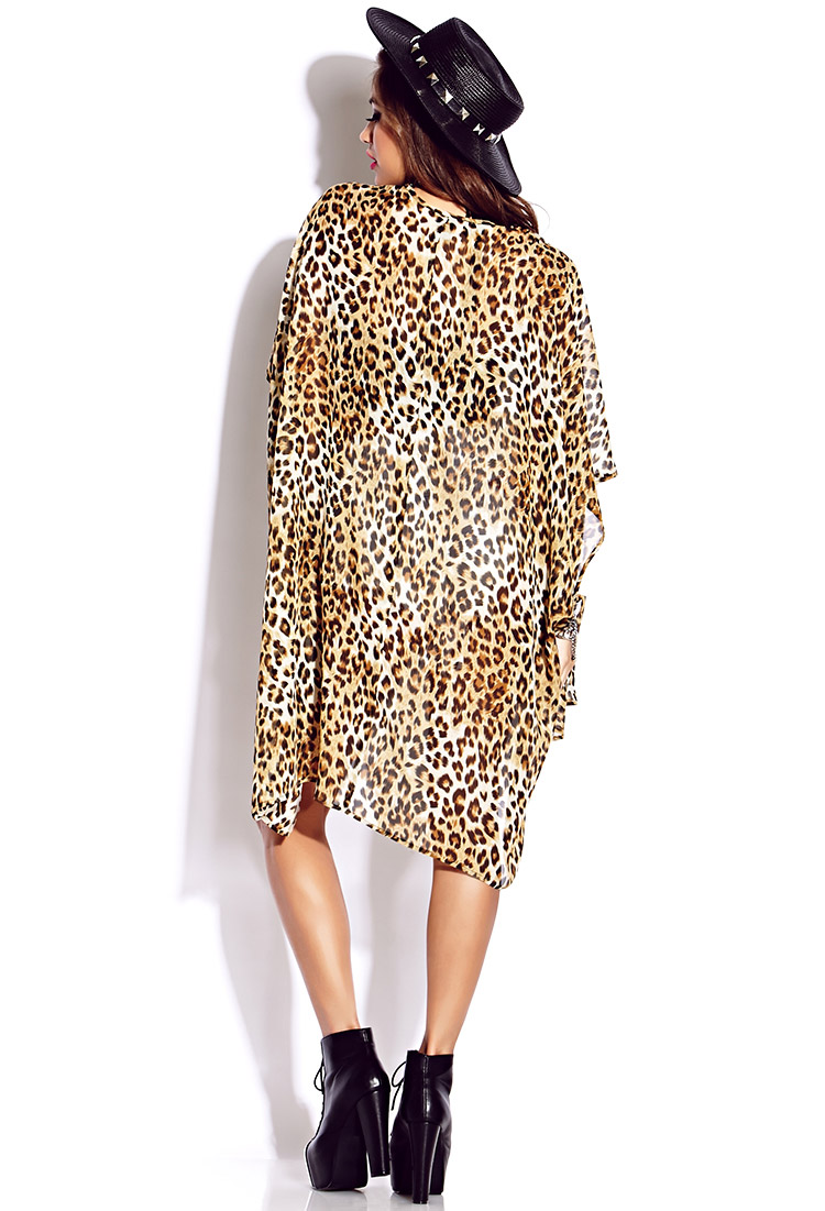 lyst forever 21 wild thing kimono cardigan in brown