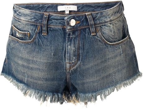 Iro Modena Denim Shorts in Blue - Lyst