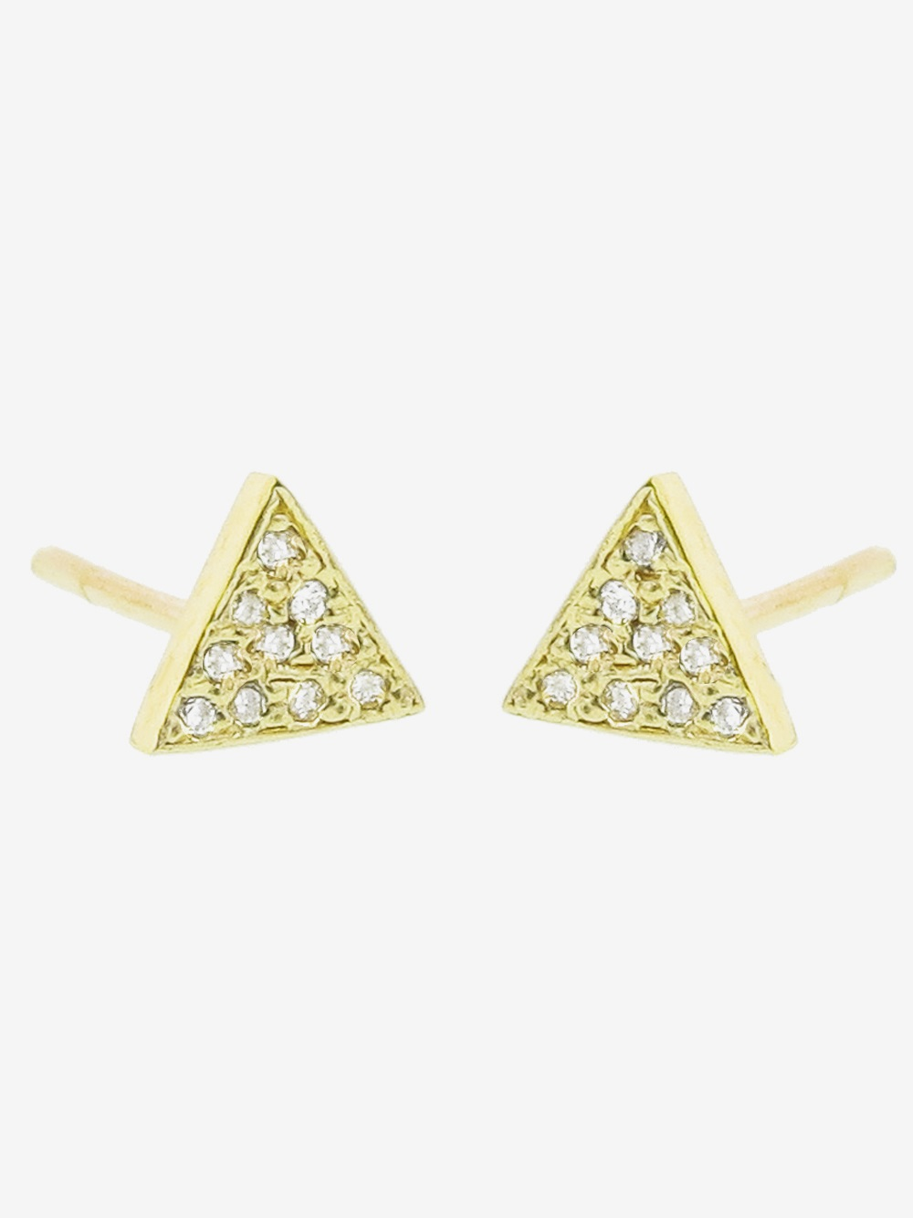 f855435af8b99 Jennifer Meyer Yellow Diamond Triangle Stud Earring