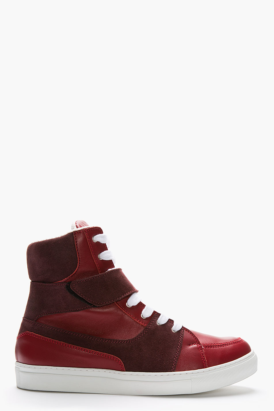 1f1bab30bb9c45 Lyst - Kris Van Assche Red Suede High-top Sneakers in Red for Men