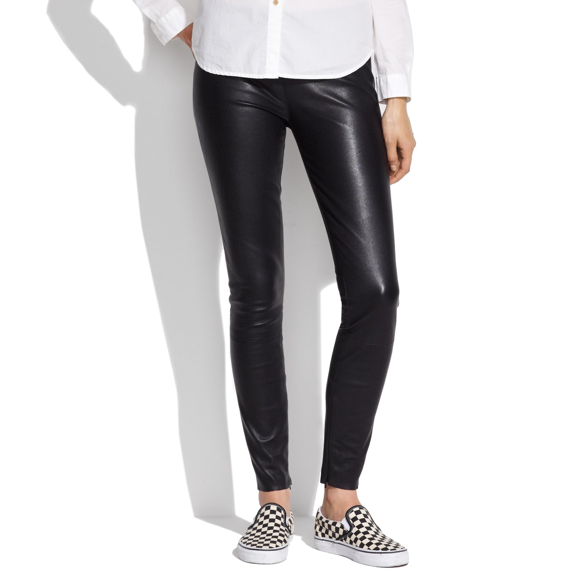 Lyst - Madewell Leather Leggings In Black-8397