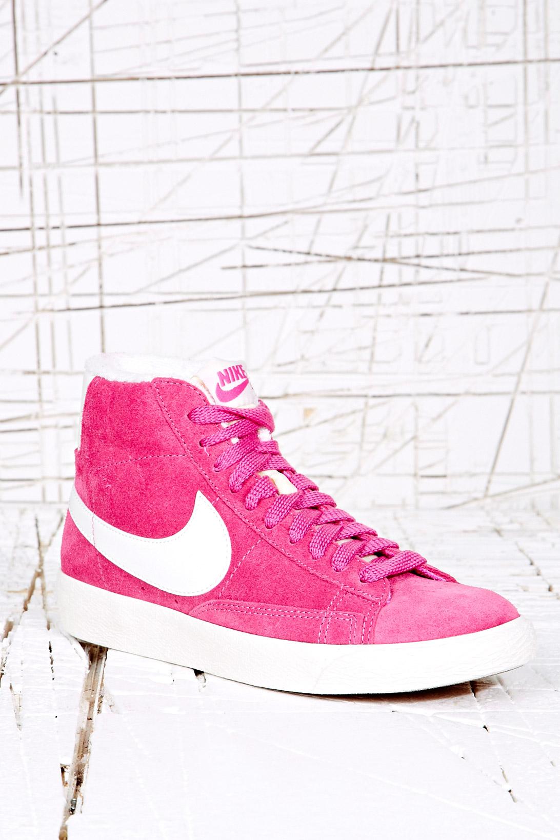 9da04ac42d13 Shoeniverse  NIKE Blazer Hi-Top Trainers In Pink