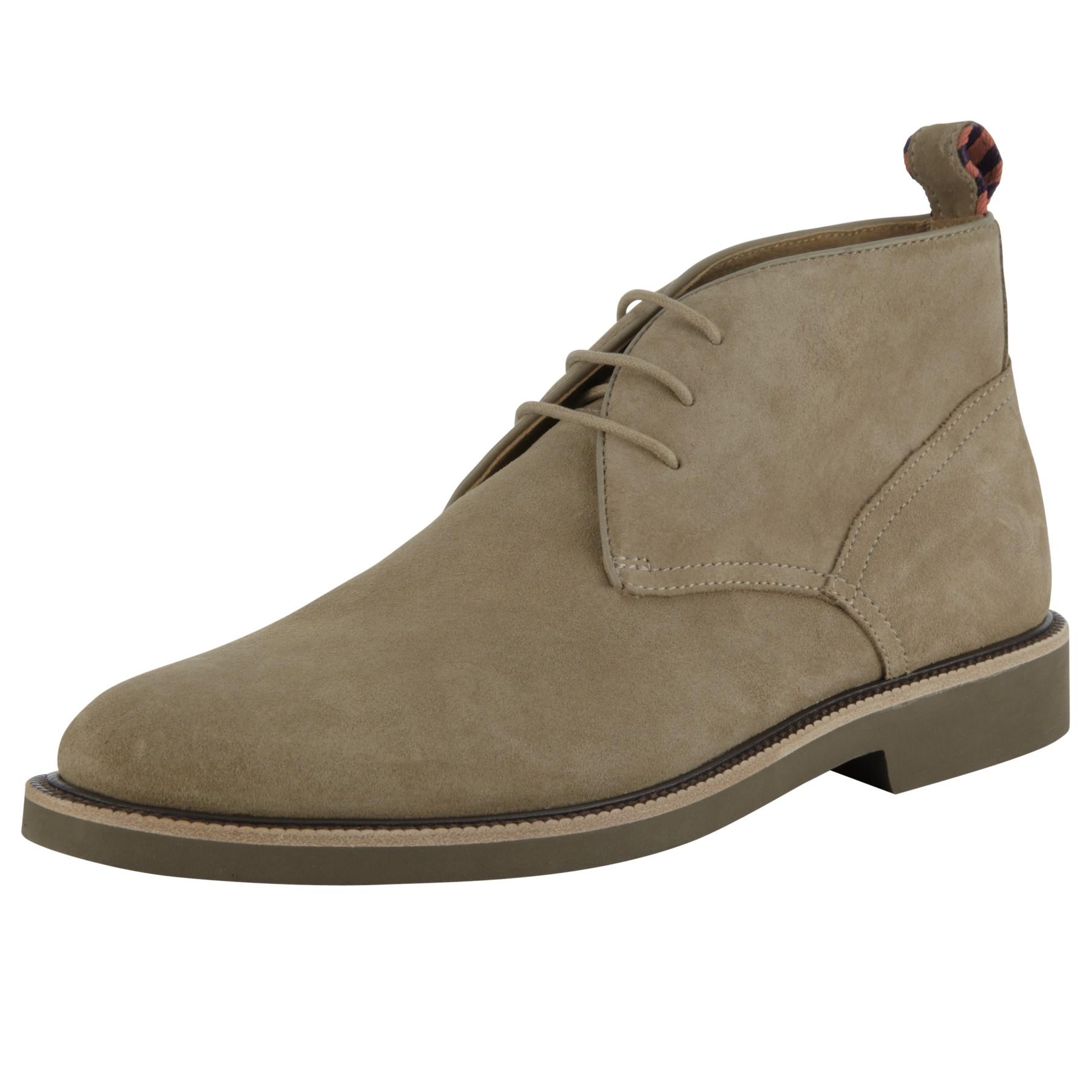 polo ralph torrington suede chukka boots in gray