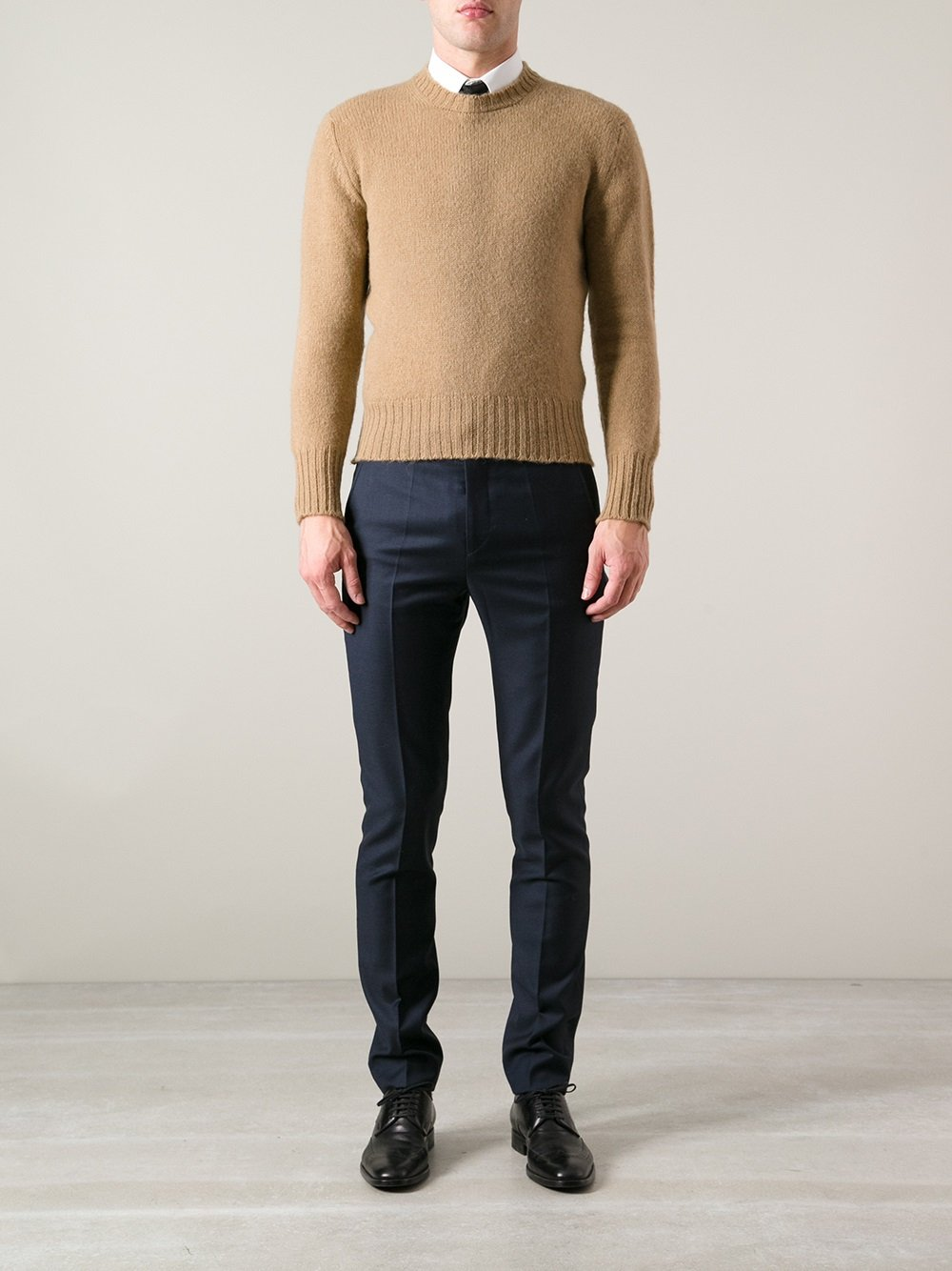 pringle of scotland wool jumper in natural for men lyst