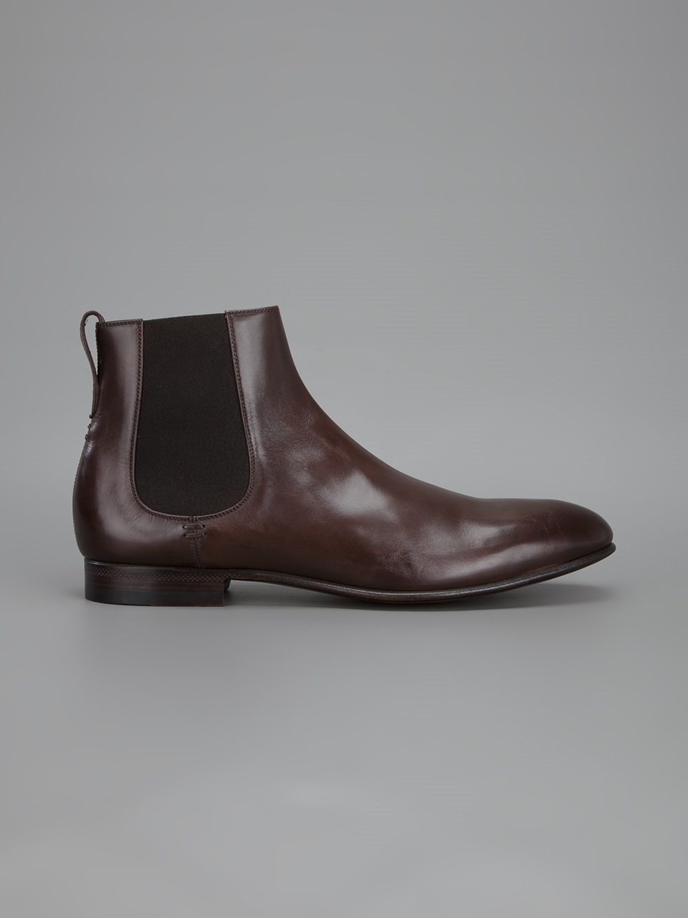 Sergio Rossi Ankle Boot In Brown For Men Lyst