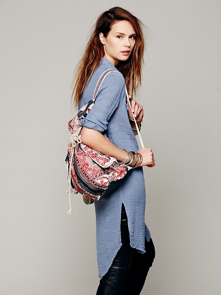 Free People Drezdon Backpack in Red