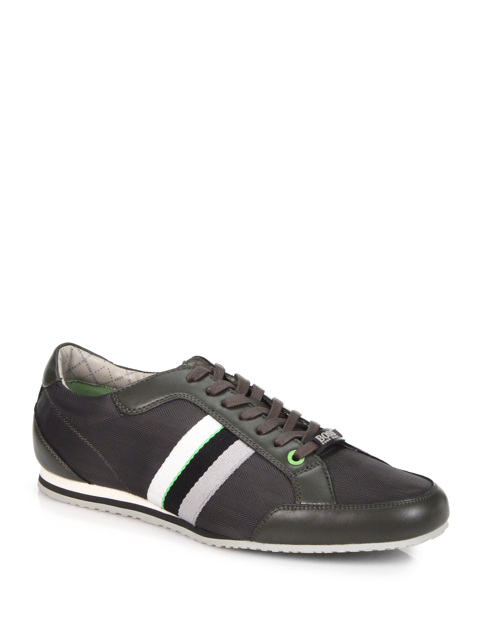 boss green victoire texas sneakers in green for men lyst. Black Bedroom Furniture Sets. Home Design Ideas