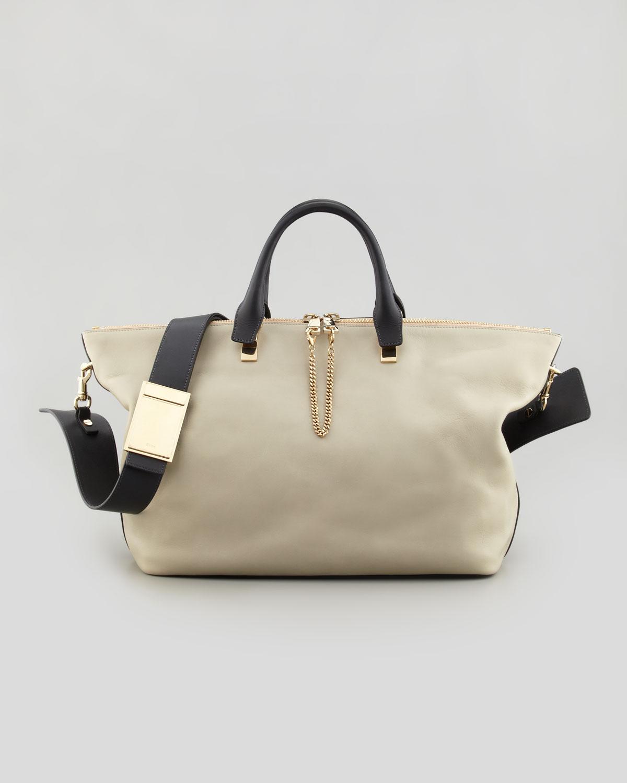 Chlo¨¦ Baylee Medium Shoulder Bag in Gray (GREY/BLACK)   Lyst