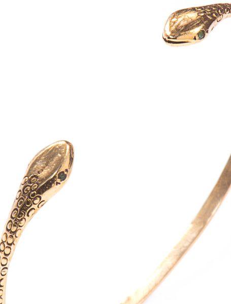 Jade Jagger Emerald Yellow Gold Snake Bracelet In Gold