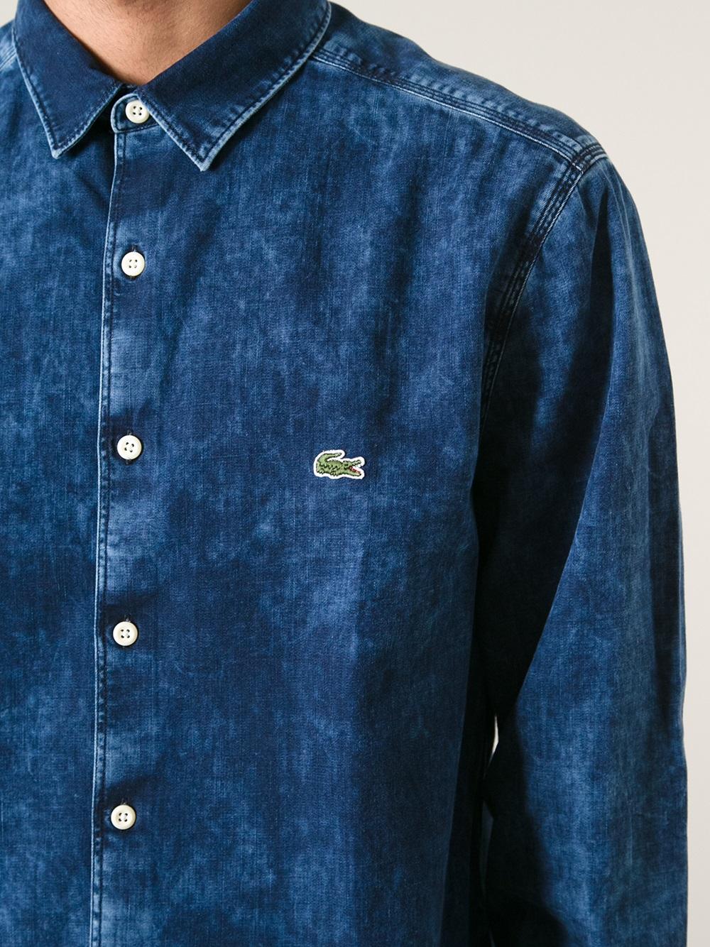a70ba848f5 Lacoste L!ive Blue Denim Shirt for men