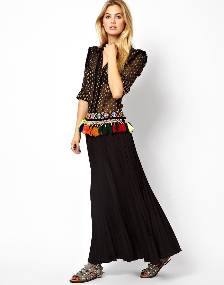 2019 year look- How to drop wear waist maxi dress