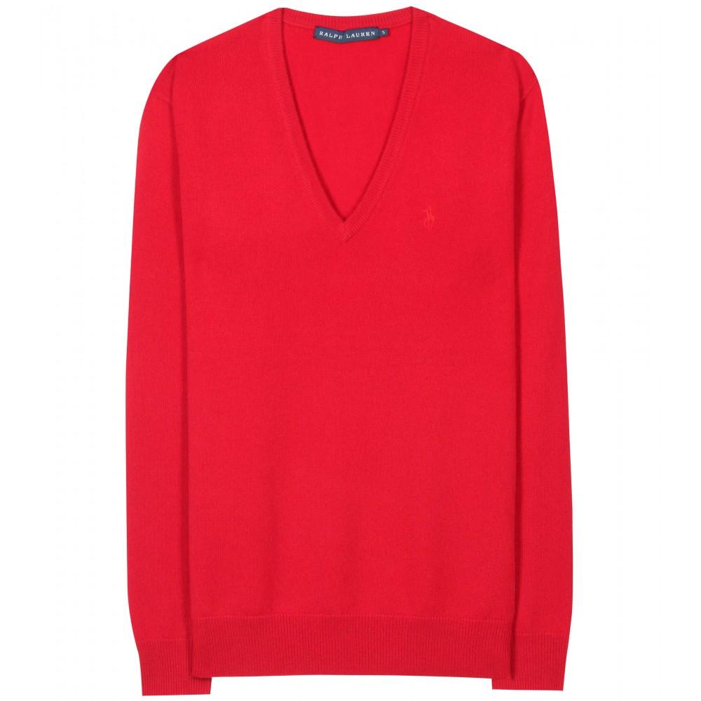 ralph lauren cashmere pullover in red martin red lyst. Black Bedroom Furniture Sets. Home Design Ideas