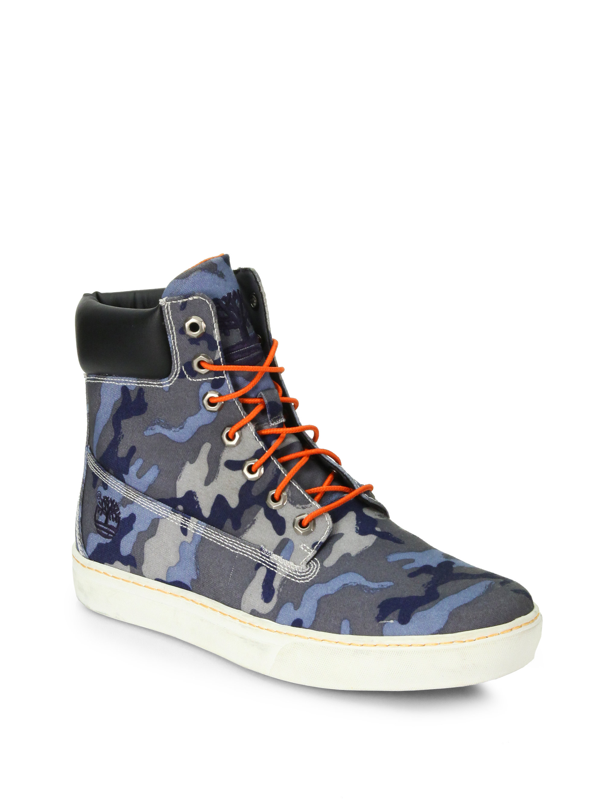 Timberland Blue Camo Boots for Men - Lyst