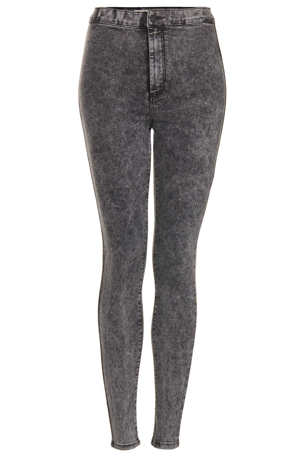 Topshop Moto Black Joni Super High Waisted Jeans in Gray | Lyst