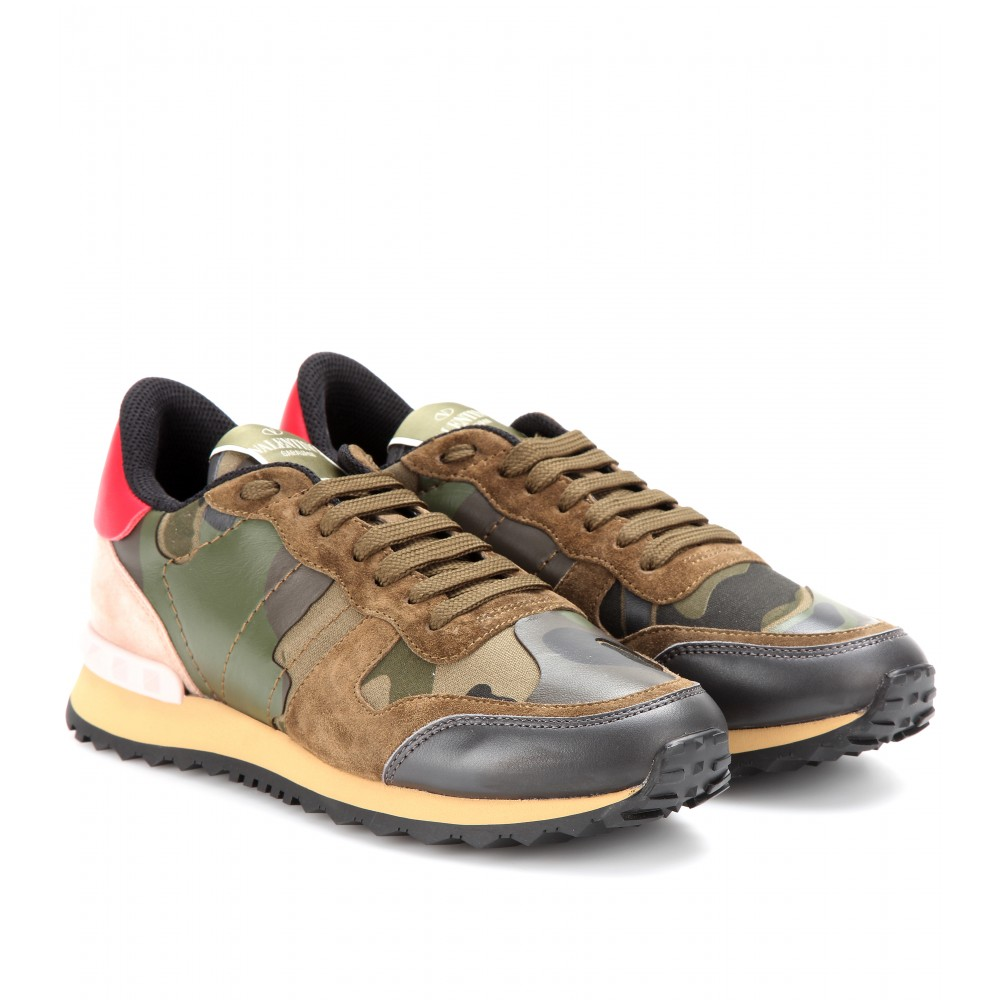 valentino camouflage sneakers in green lyst. Black Bedroom Furniture Sets. Home Design Ideas
