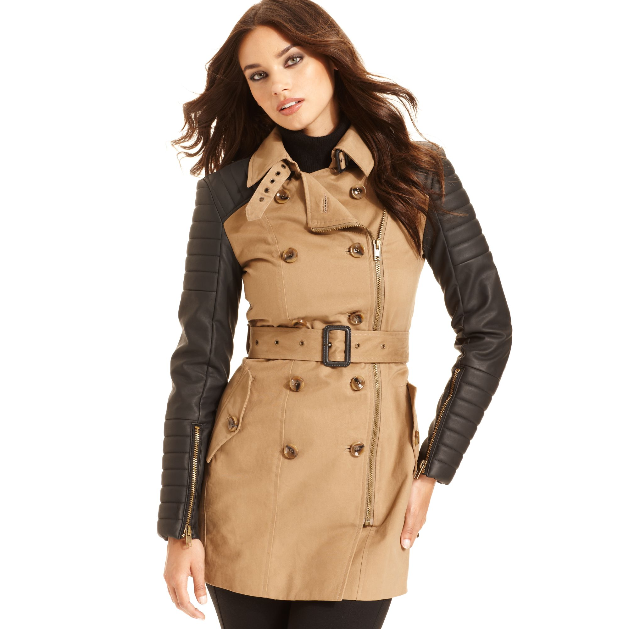 Collection Faux Leather Trench Coat Pictures - Reikian