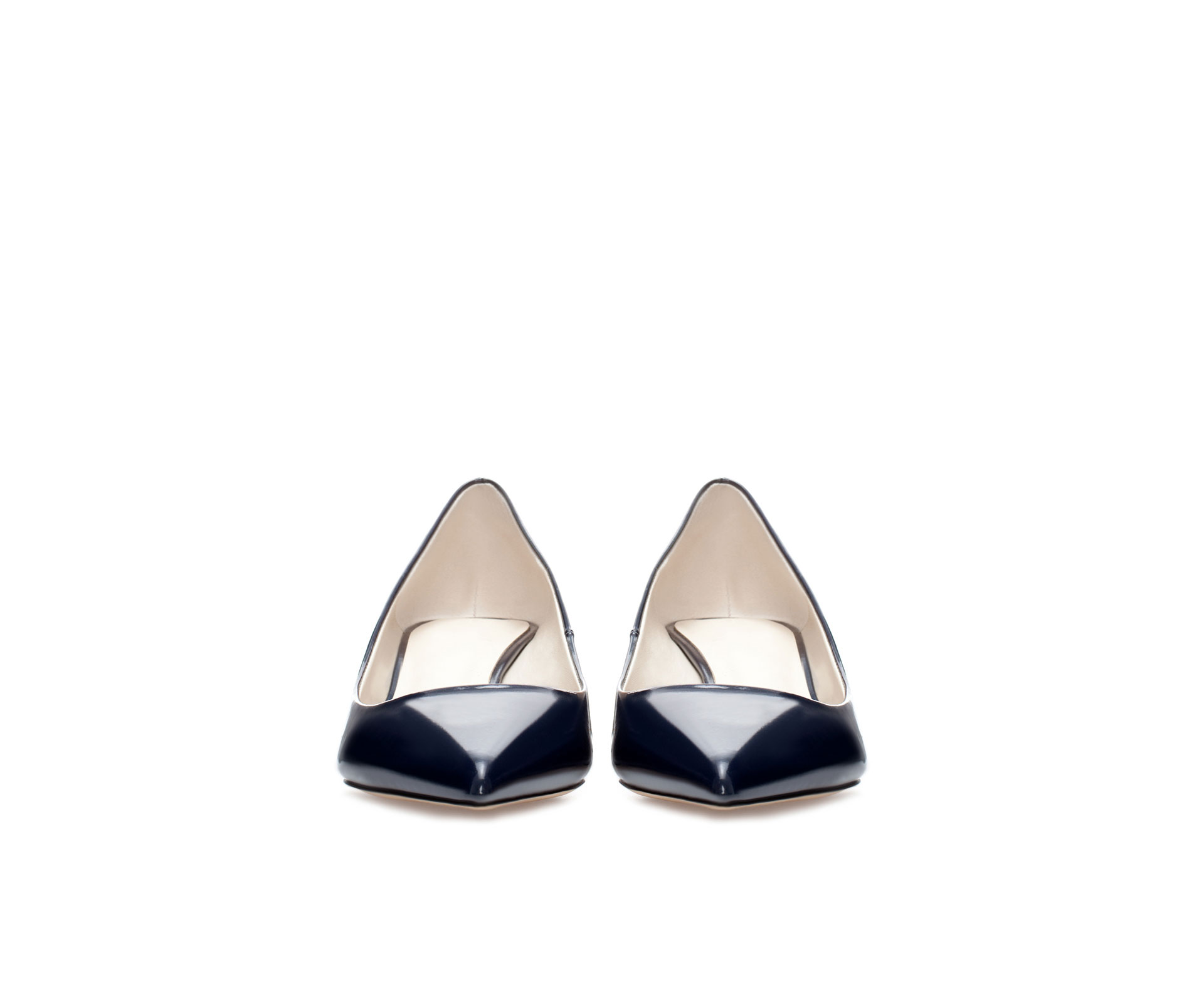 Zara Kitten Heel Court Shoe In Blue Lyst