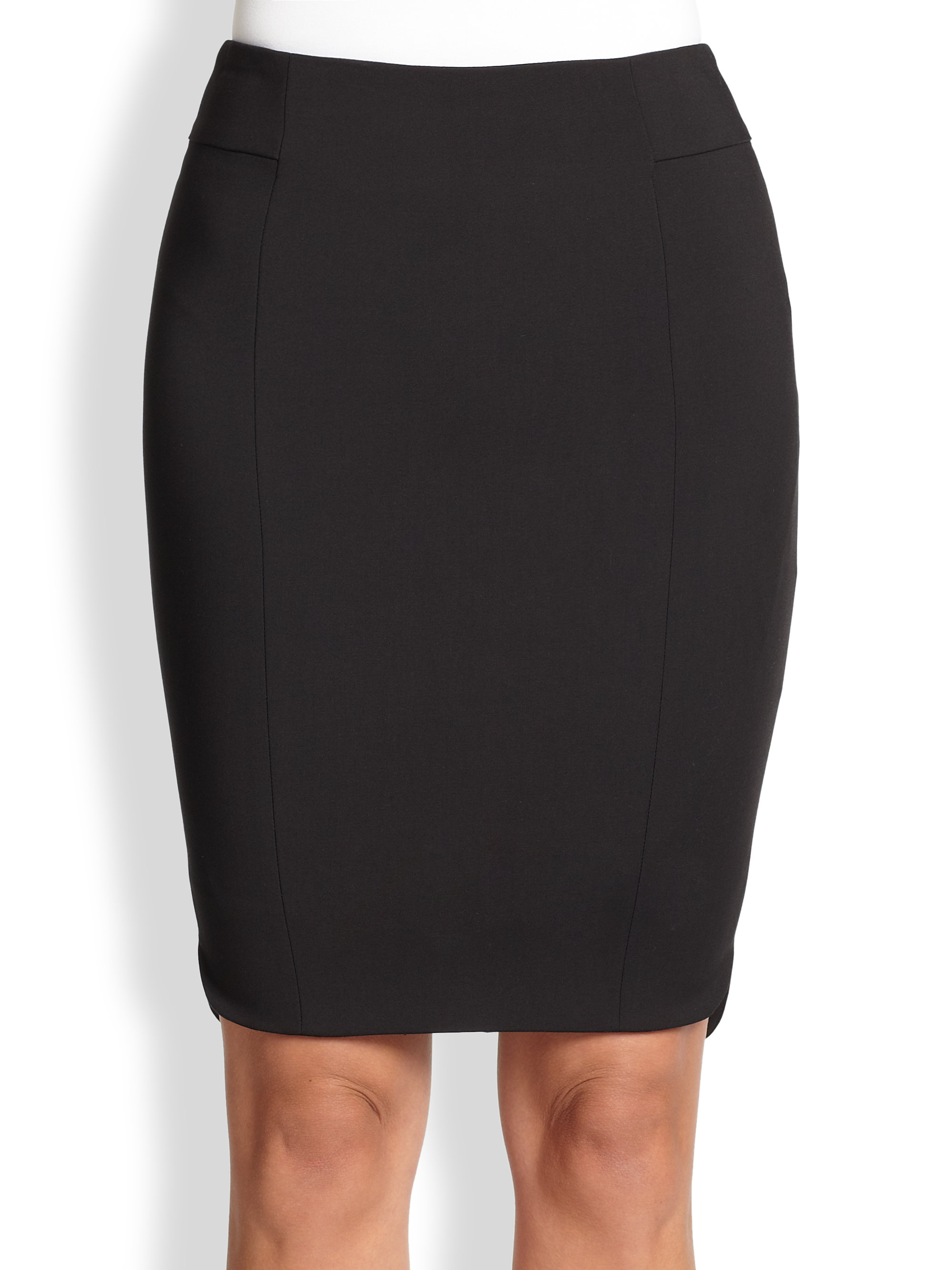 akris punto techno cotton pencil skirt in black lyst
