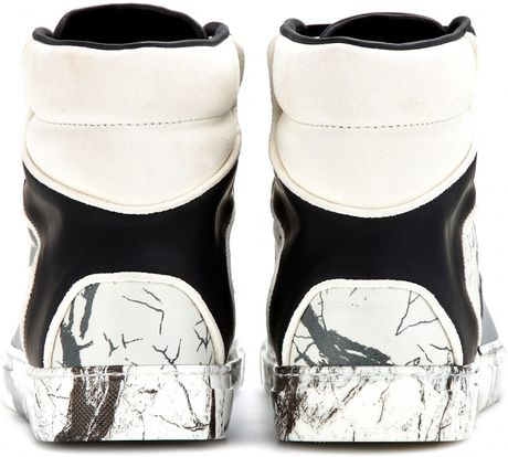 Balenciaga Multi Material Marble Sneakers Multi Size 6 In