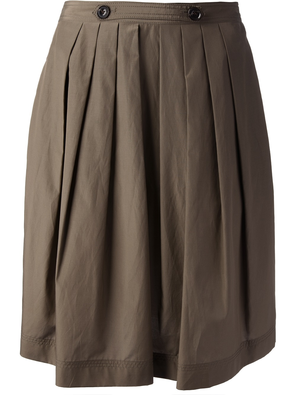 burberry brit pleated skirt in brown lyst
