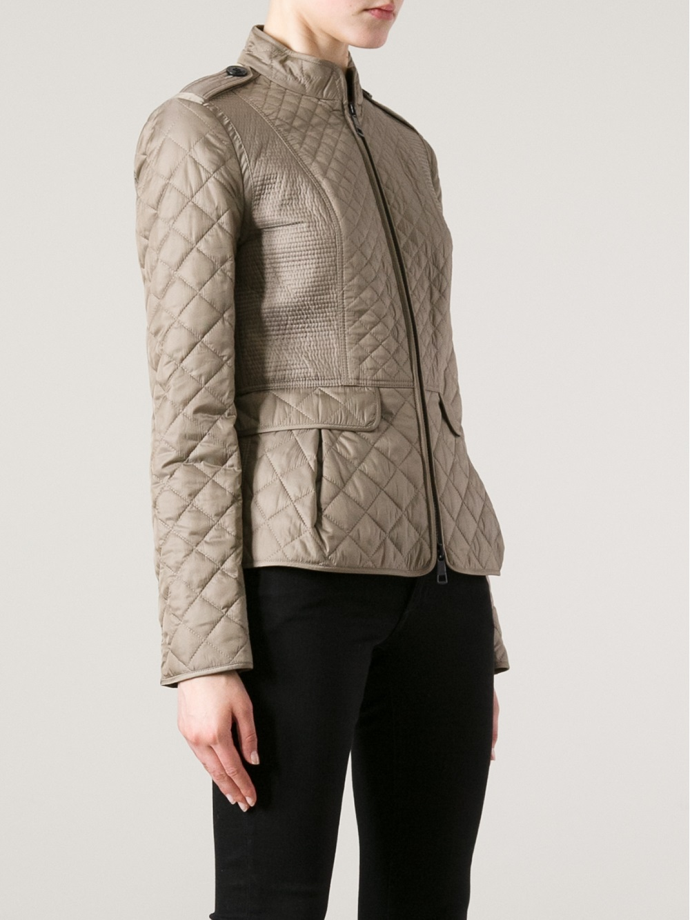 black leather-look faux fur collar longline jacket