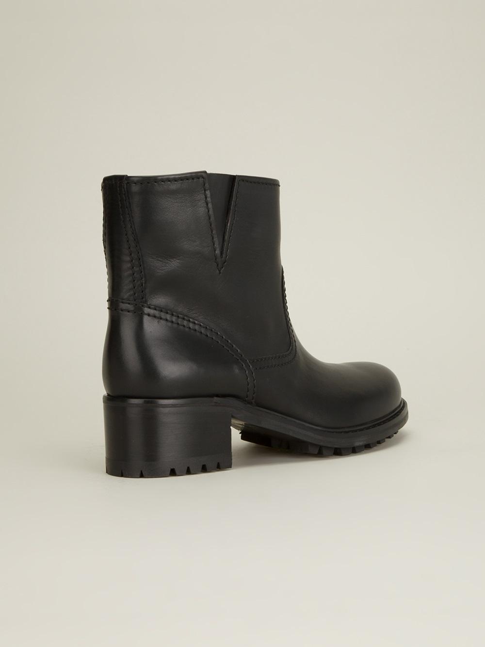 car shoe car shoe chunky chelsea boot in black lyst
