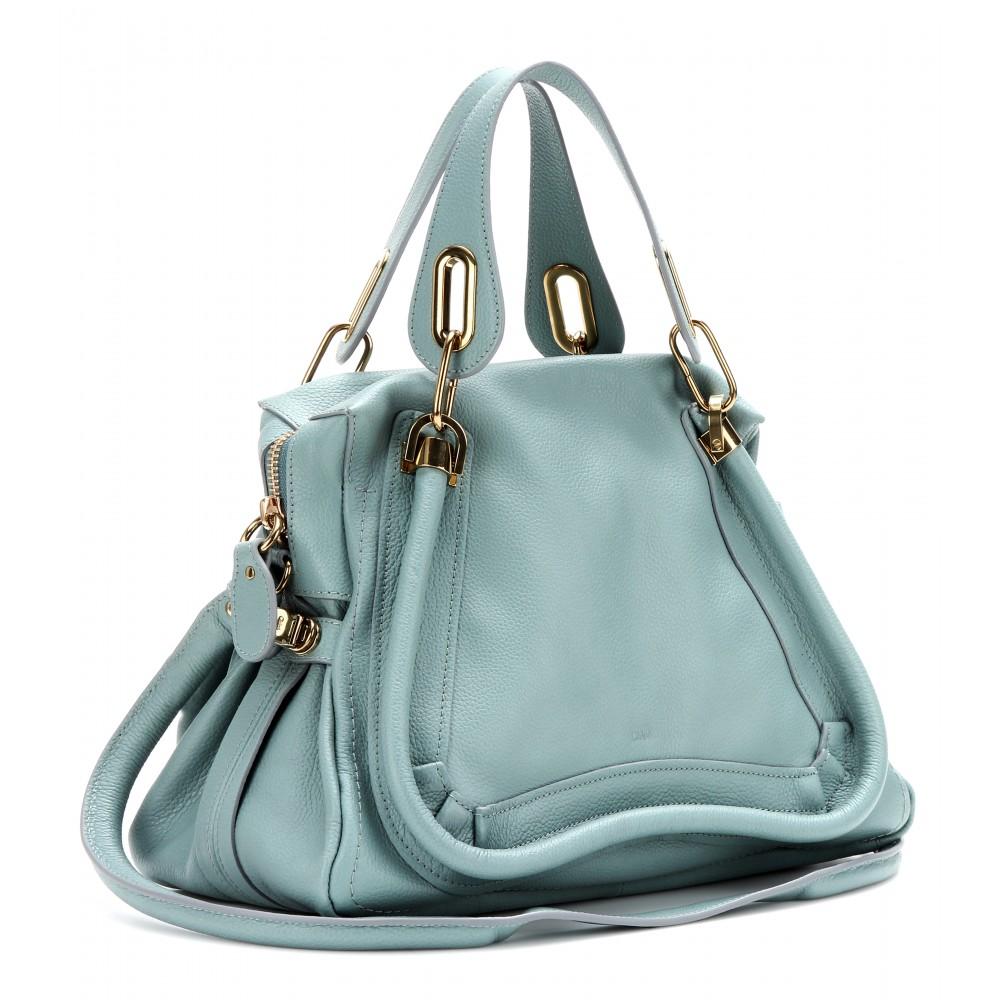 Chlo¨¦ Paraty Medium Leather Shoulder Bag in Blue (fresh mint) | Lyst