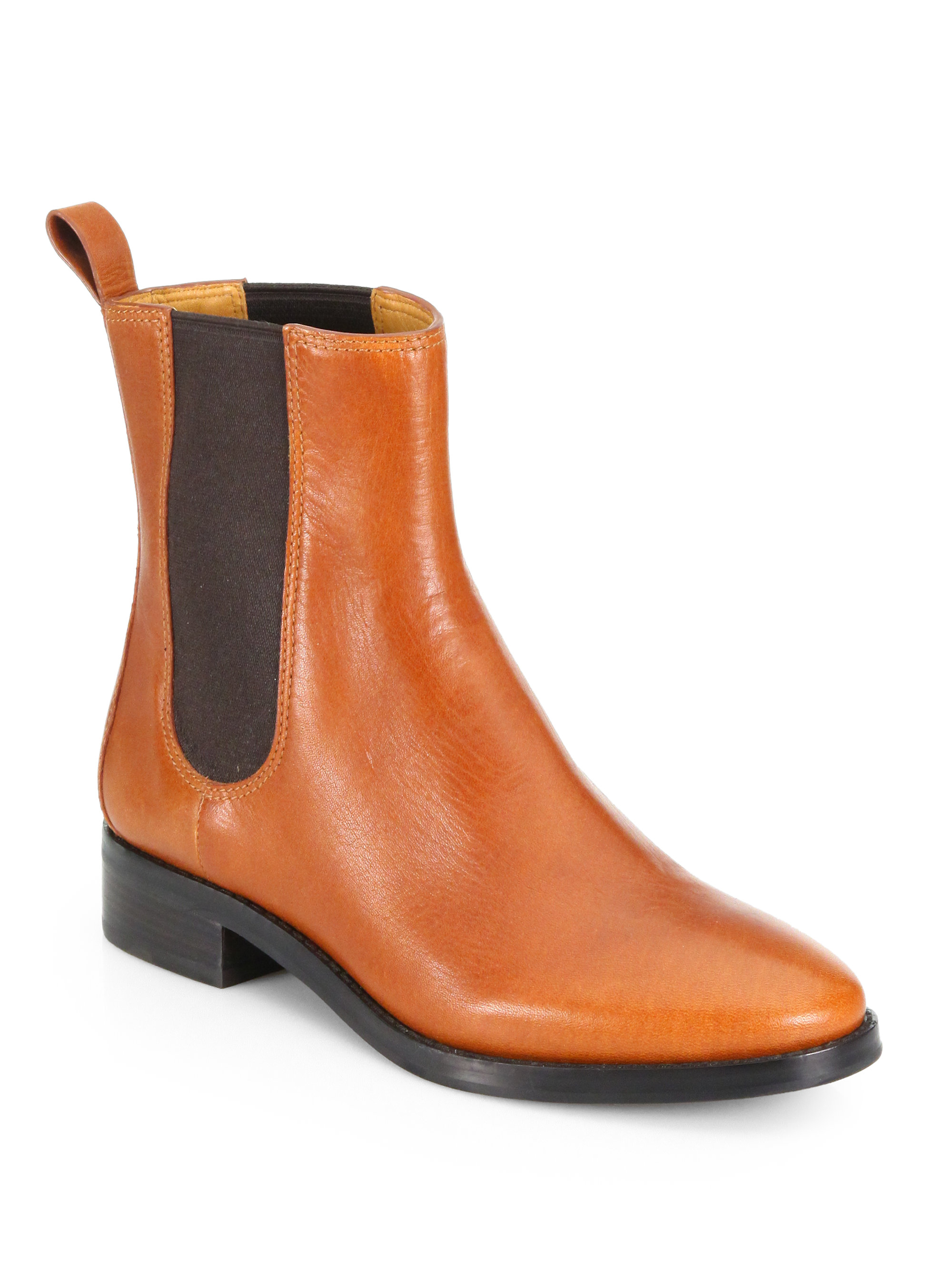 cole haan evan waterproof leather ankle boots in brown