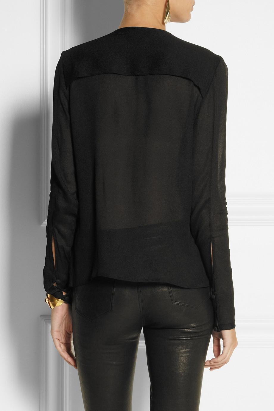lyst day birger et mikkelsen sequin embellished crepe top in black. Black Bedroom Furniture Sets. Home Design Ideas