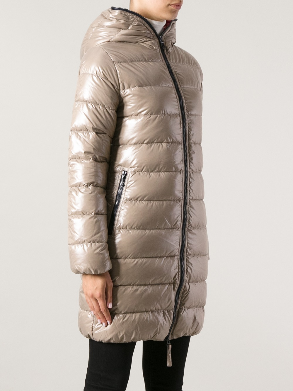 Lyst Duvetica Duvetica Ace Padded Coat In Natural