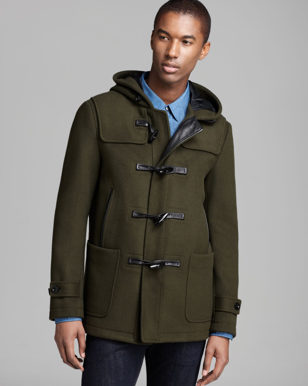 Elie tahari Nicolas Wool Toggle Coat in Green for Men | Lyst