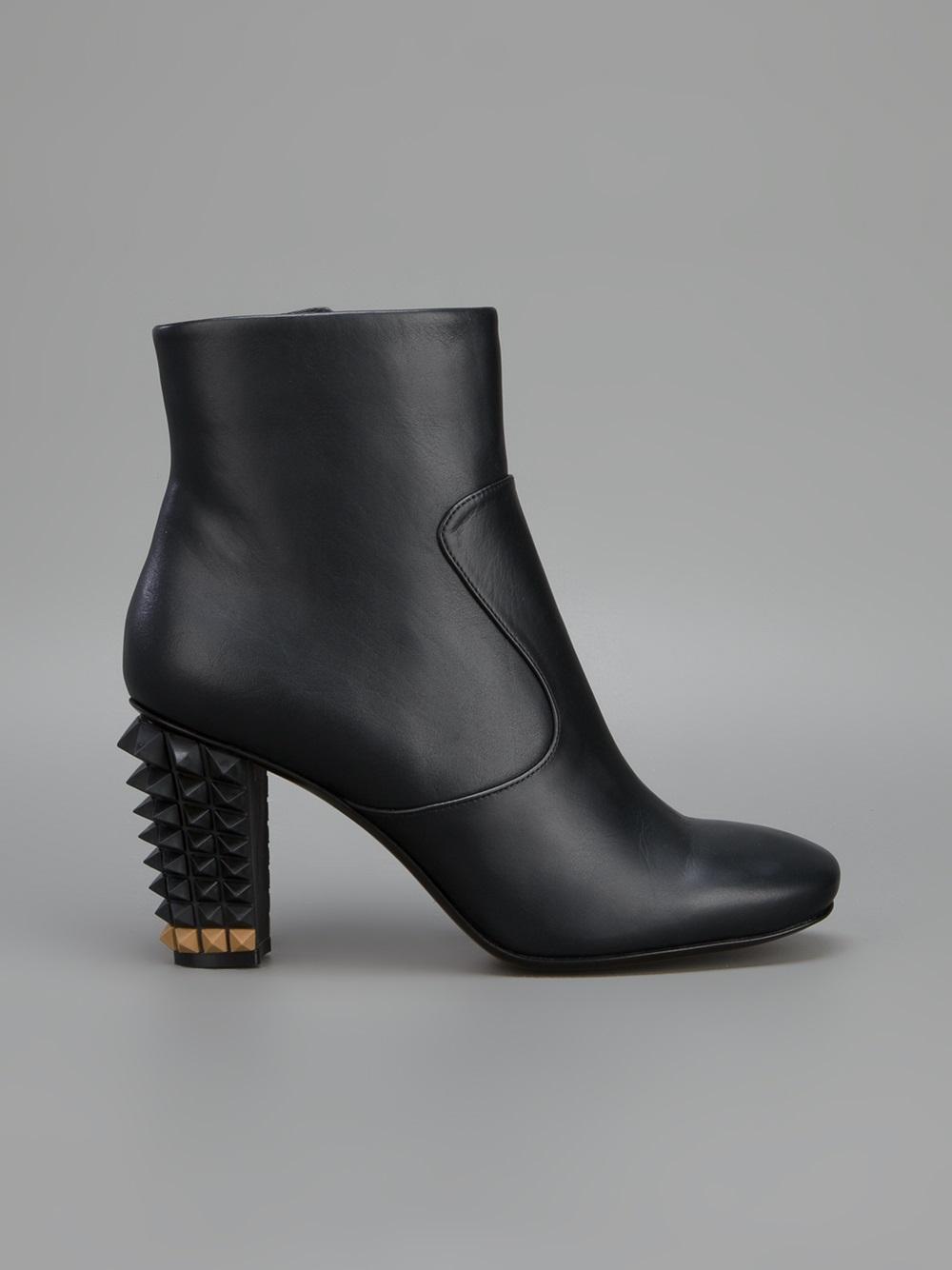 Fendi Spiked Heel Boot in Black