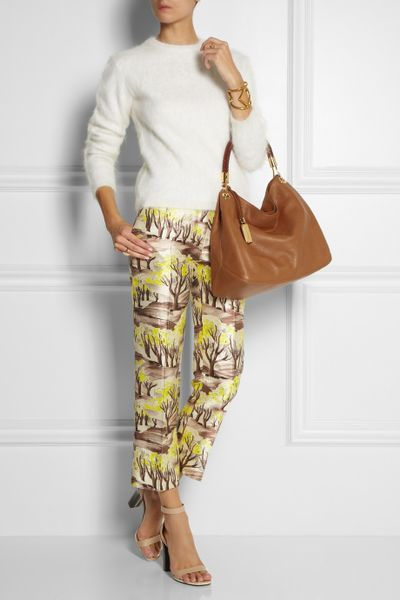 Michael Kors Skorpios Large Shoulder Bag Cinnamon Textured Leather 70