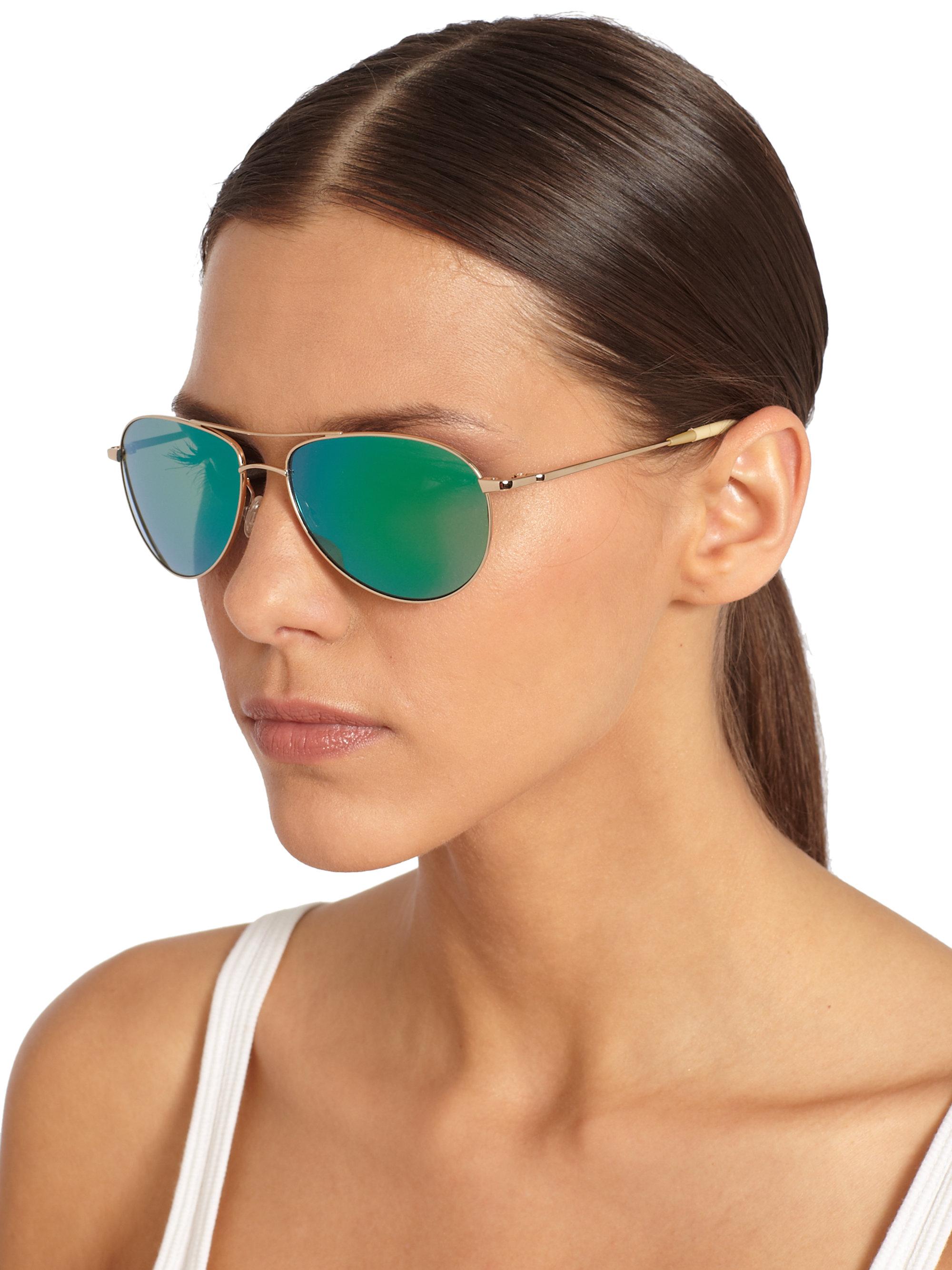 Peoples 59 Benedict Sunglassesgreen Mirror Oliver Aviator 1FKlJc