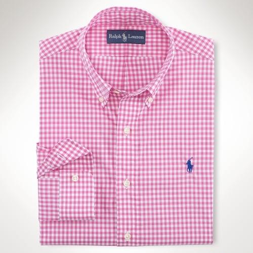 4d1e50aca2a Polo Ralph Lauren Pink Custom Fit Gingham Shirt for men