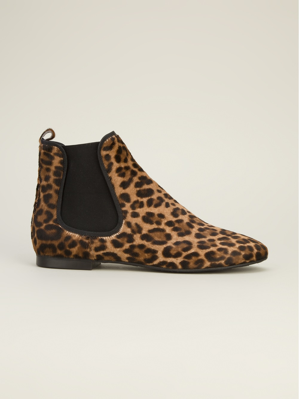 buy online 2b52c 7145a Pretty Ballerinas Leopard Print Ankle Boot in Black (Brown ...