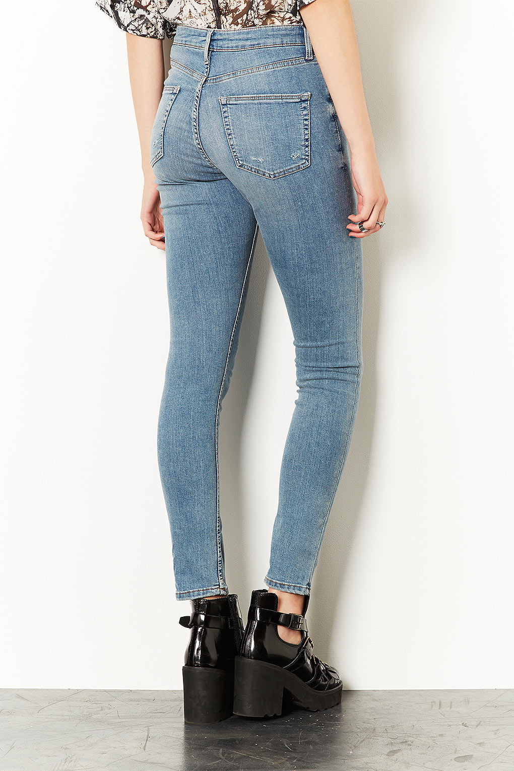 Topshop Moto Light Vintage Jamie High Waisted Jeans in Blue | Lyst