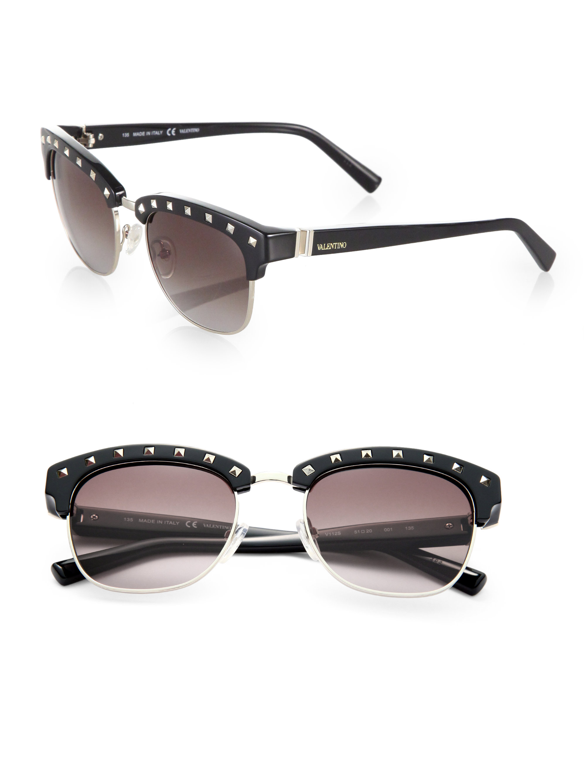 Studded Sunglasses  valentino studded square sunglasses in brown lyst