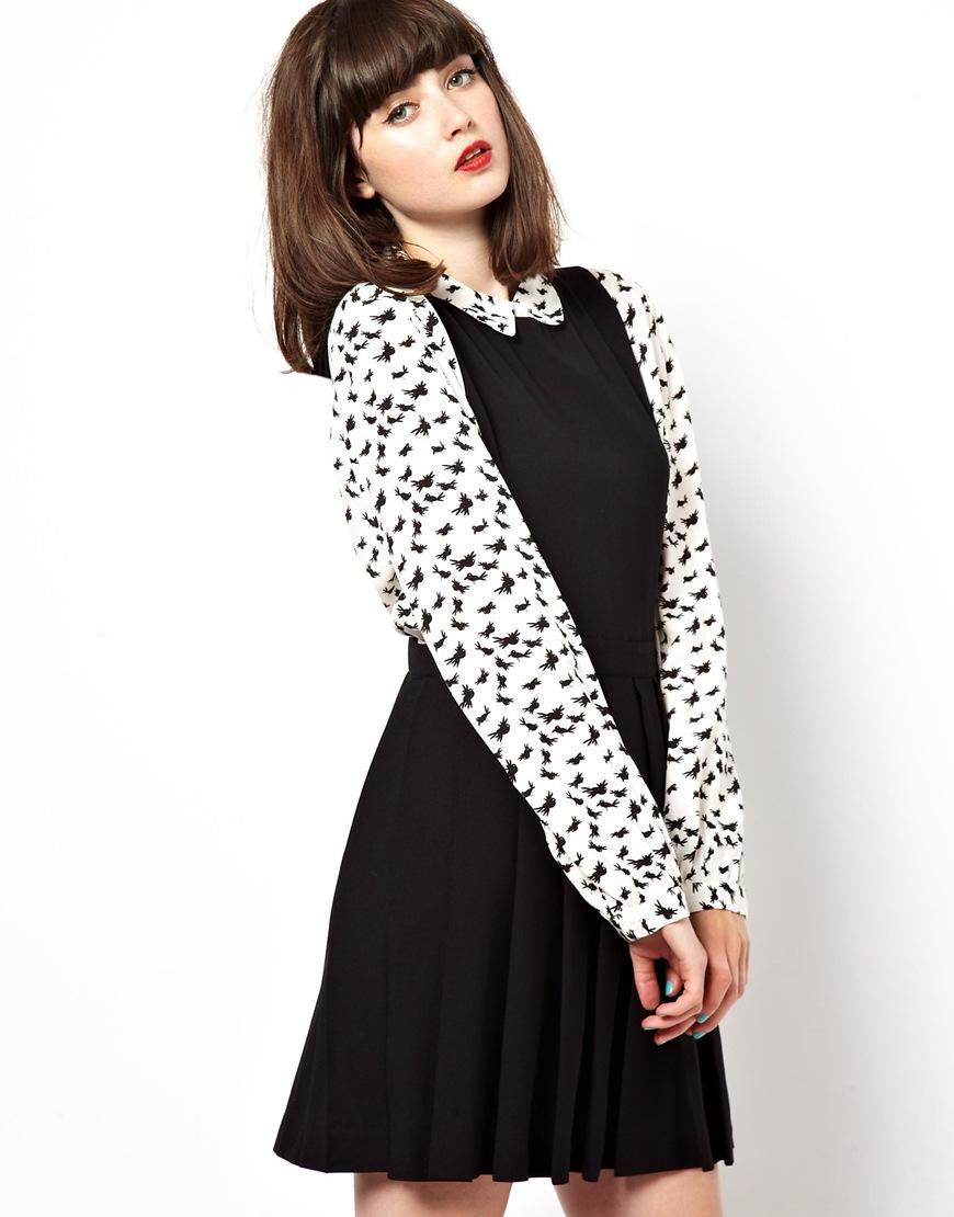 05555b42941 Black And White Pinny Dress – Little Black Dress