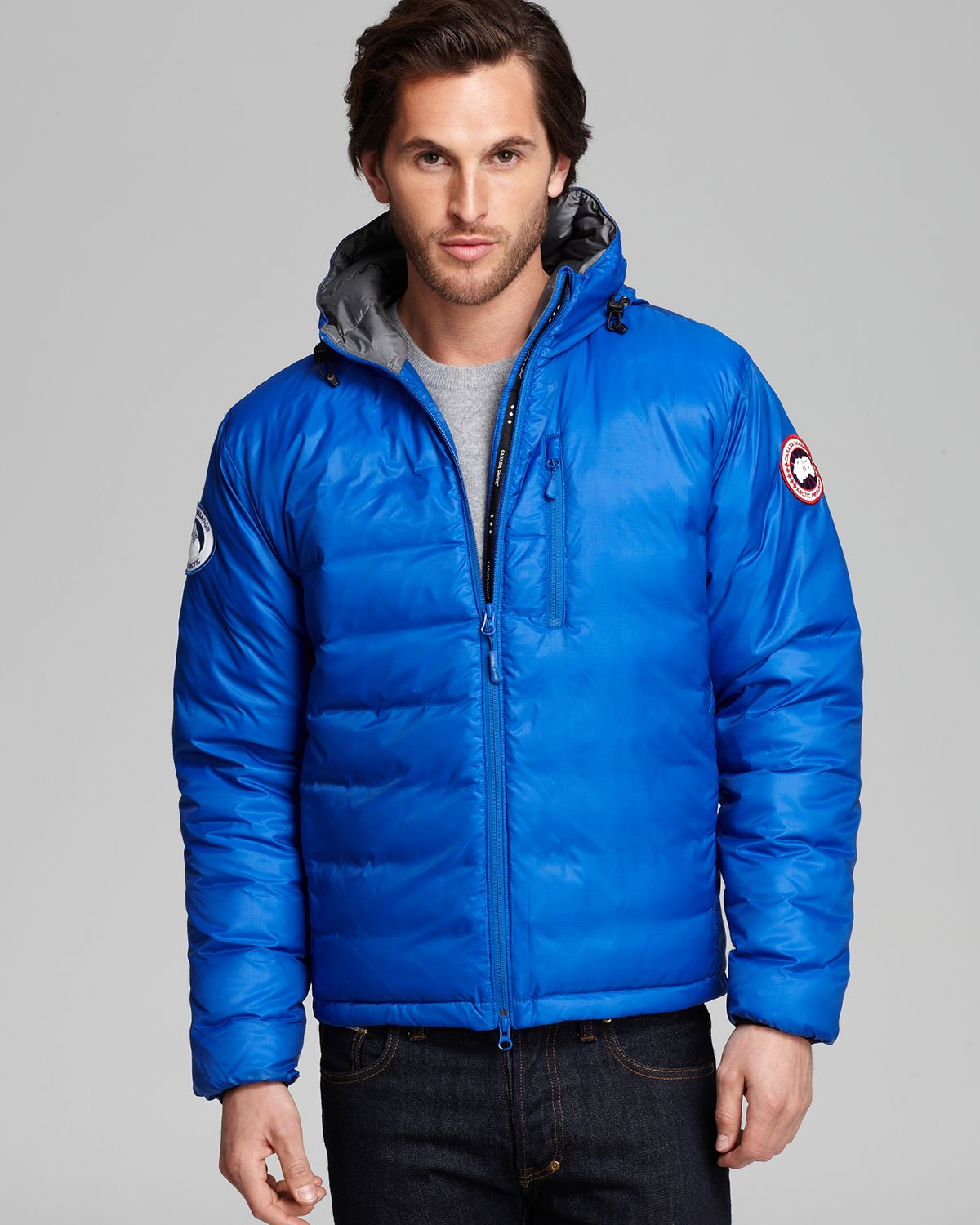 Lyst - Canada Goose Lodge Hoodie Down Jacket in Blue for Men 29fe2eae6