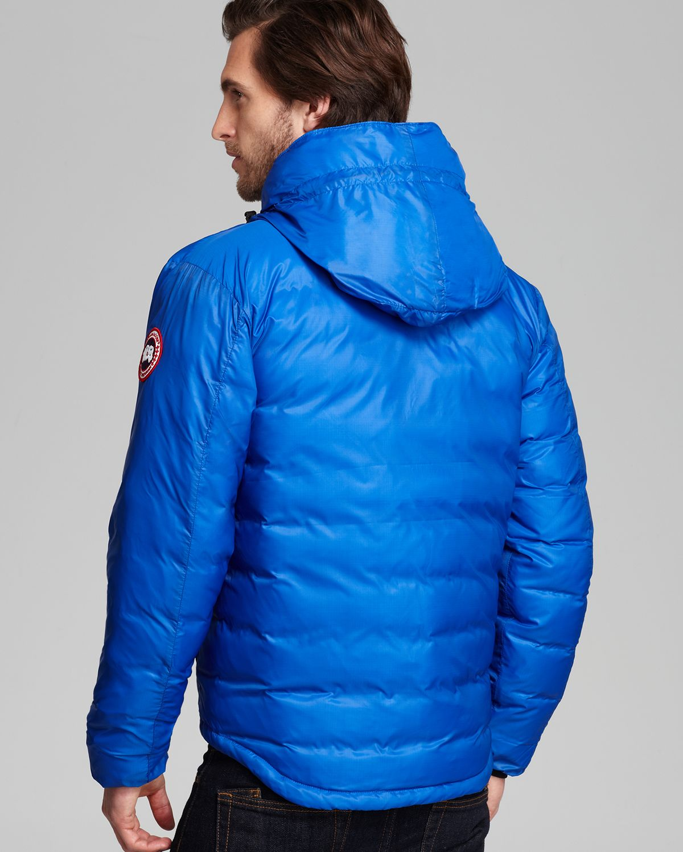canada goose lodge hooded jacket blue