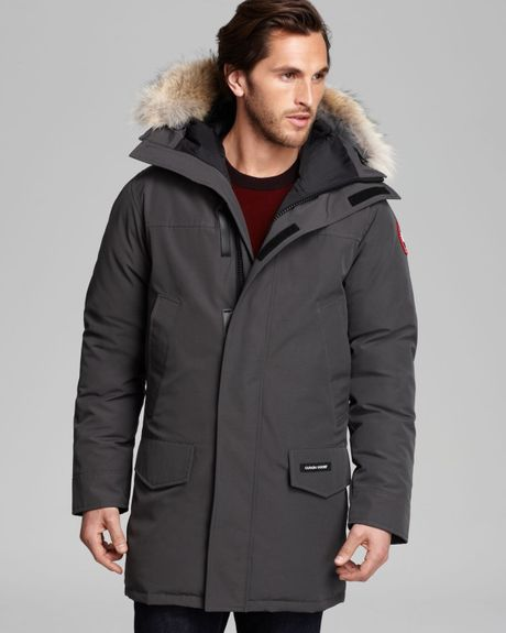 canada goose langford parka with fur hood in gray for men. Black Bedroom Furniture Sets. Home Design Ideas