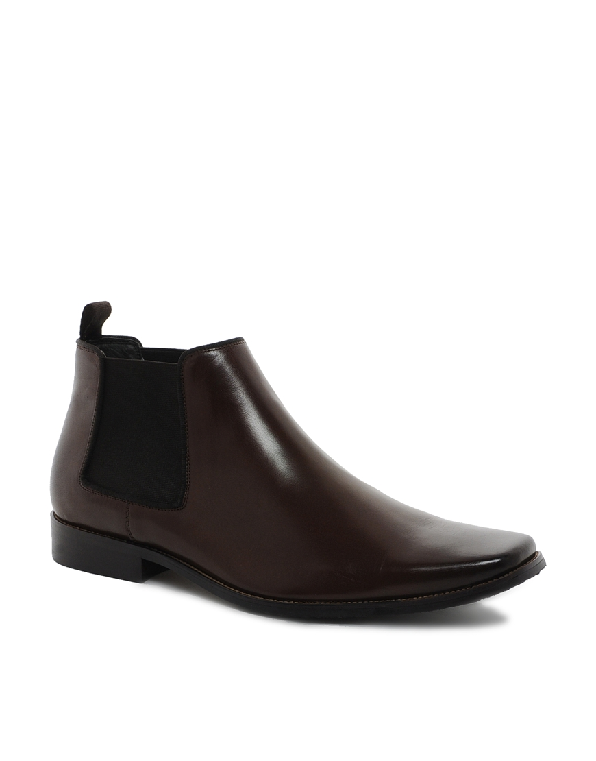 dune chelsea boots in brown for lyst