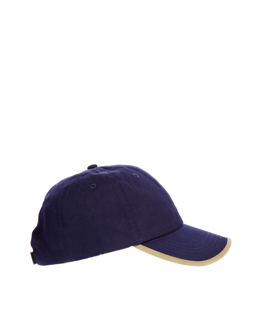 fred perry classic laurel wreath cap in blue lyst. Black Bedroom Furniture Sets. Home Design Ideas