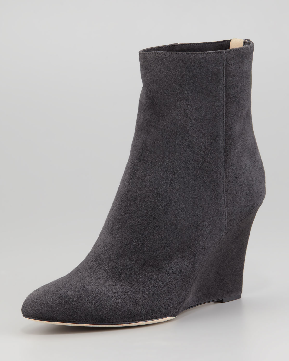 jimmy choo mayor suede wedge ankle boot gray in gray lyst